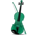 download Violin clipart image with 135 hue color