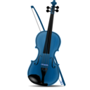 download Violin clipart image with 180 hue color