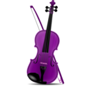 download Violin clipart image with 270 hue color