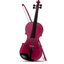 download Violin clipart image with 315 hue color