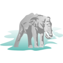 download Elephant clipart image with 45 hue color