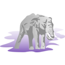 download Elephant clipart image with 135 hue color