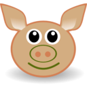 download Funny Piggy Face clipart image with 45 hue color
