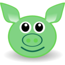 download Funny Piggy Face clipart image with 135 hue color