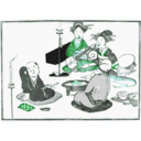 download Geisha Entertain clipart image with 135 hue color