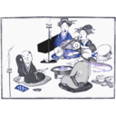download Geisha Entertain clipart image with 225 hue color