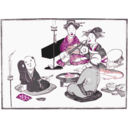 download Geisha Entertain clipart image with 315 hue color