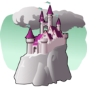 download Castle clipart image with 315 hue color