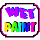 download Wet Paint clipart image with 45 hue color