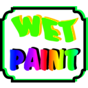 download Wet Paint clipart image with 225 hue color