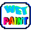 download Wet Paint clipart image with 315 hue color