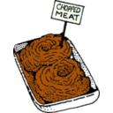 download Chopped Meat clipart image with 45 hue color