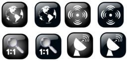 Map Geolocalisation Icon Set