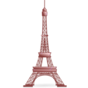 download Eiffel Tower clipart image with 315 hue color