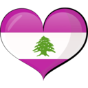 download Lebanon Heart Flag clipart image with 315 hue color