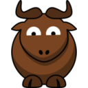 Cartoon Gnu Glee