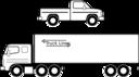 Pickup Et Camion Noirs