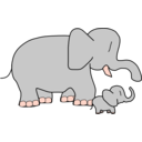 download Baby Elephant clipart image with 315 hue color