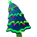 download Christmas Tree clipart image with 90 hue color