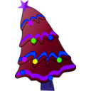 download Christmas Tree clipart image with 225 hue color