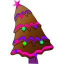 download Christmas Tree clipart image with 270 hue color