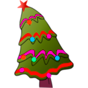 download Christmas Tree clipart image with 315 hue color