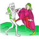 download Dance Macabre 5 clipart image with 45 hue color