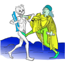download Dance Macabre 5 clipart image with 135 hue color