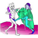 download Dance Macabre 5 clipart image with 225 hue color