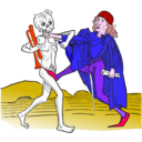 download Dance Macabre 5 clipart image with 315 hue color