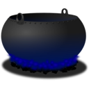 download Cauldron clipart image with 225 hue color