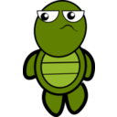 download Turtle clipart image with 315 hue color