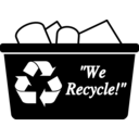 download Recycling Bin Simple clipart image with 315 hue color