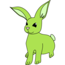 download Bunny clipart image with 45 hue color