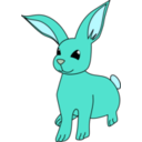 download Bunny clipart image with 135 hue color