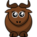 Cartoon Gnu Eyes