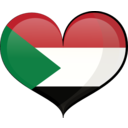 Sudan Heart Flag