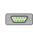 download Db9 Chassis Connector Backside clipart image with 45 hue color