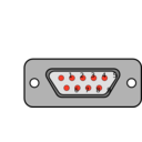download Db9 Chassis Connector Backside clipart image with 315 hue color