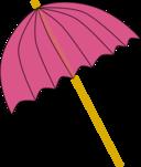 Umbrella Parasol Pink Tranparent
