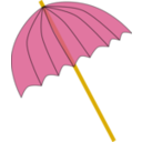Umbrella Parasol Pink Tranparent