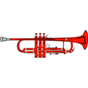 download Trumpet clipart image with 315 hue color