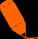 Pencil Stylized Orange