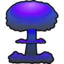 download Nuclear Explosion clipart image with 225 hue color