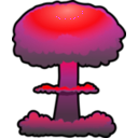 download Nuclear Explosion clipart image with 315 hue color