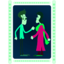 download Indian Couple clipart image with 135 hue color