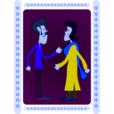 download Indian Couple clipart image with 225 hue color
