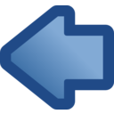 Icon Arrow Left Blue