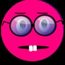 Surprised Smiley Pink Emoticon