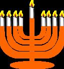 Simple Menorah For Hanukkah With Shamash